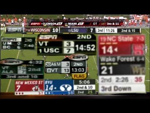 Evolution Of ESPN College Football Scoreboard