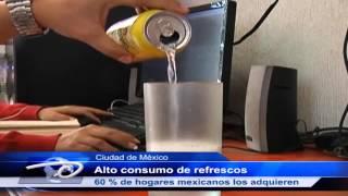 Ciudad de México  Alto consumo de refrescos 60 % de hogares mexicanos los adquieren