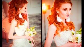 Создание свадебного образа. Прическа и макияж.