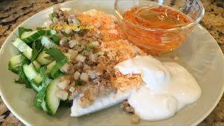 Bánh Đúc Tôm Thịt - Steamed Coconut Rice Cake with Shrimp and Pork