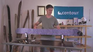 trimming contour hybrid splitboard skins