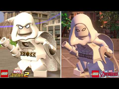LEGO Marvel Super Heroes 2 vs LEGO Marvel's Avengers Characters (Side by Side Comparison) Part 2