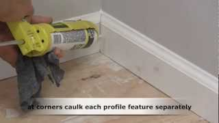 How to Caulk Trim Molding
