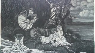 Romulus and Remus by Pallominy based on Rubens painting, grisaille only