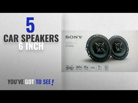 Top 10 Car Speakers 6 Inch [2018]: Sony Mega Bass XS-FB162E 6.5-inch Speakers (Black)