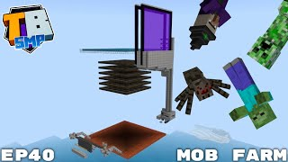 Hostile Mob Farm In The Sky And Corruption...? - Truly Bedrock Season 2 Minecraft SMP Episode 40