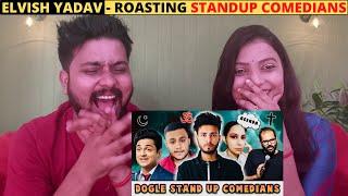 ELVISH YADAV ROASTING STANDUP COMEDIANS - Indian Reaction | Trendminati | Elvish Yadav Vlogs