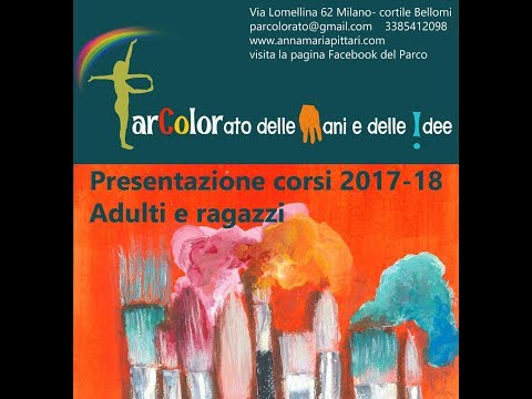 PRESENTAZIONE CORSI  DISEGNO E PITTURA 2017-18 MILANO