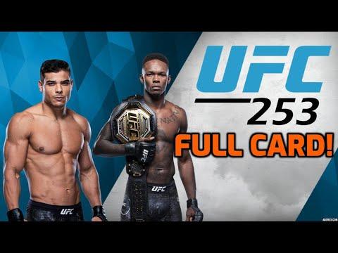 UFC 253 - Israel Adesanya Vs Paulo Costa (Full-Fight Card Predictions)