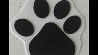 MANUALIDADES: PLANTILLA/ MOLDE  BOLSO O DULCERO HUELLA PERRO(MOLD PURSE OR CONFECTIONER TREADS DOG)