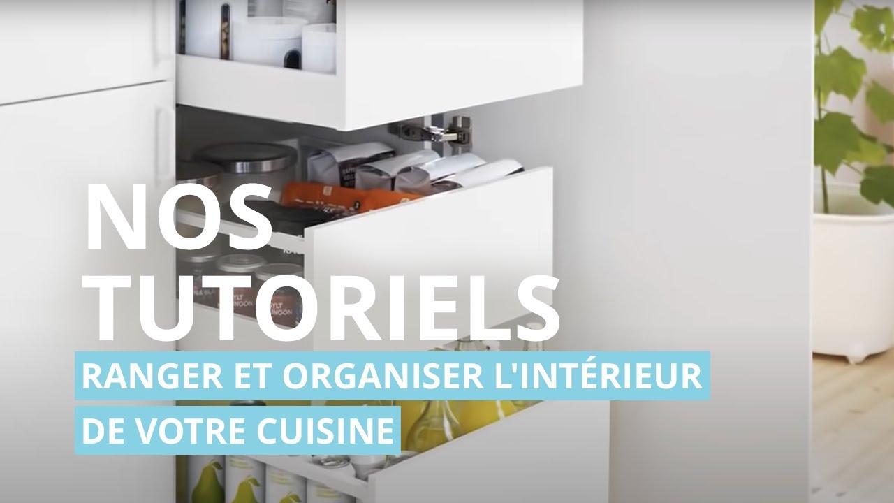 Cuisine IKEA  Ranger et organiser lintrieur de votre