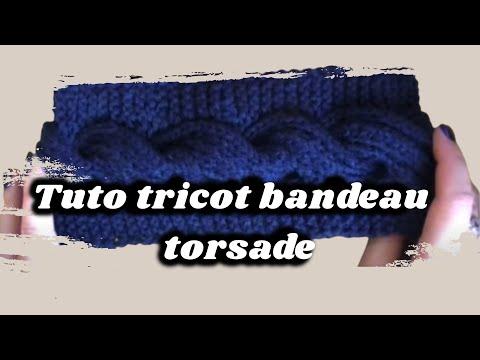 tuto bandeau tricot torsade knitting youtube. Black Bedroom Furniture Sets. Home Design Ideas
