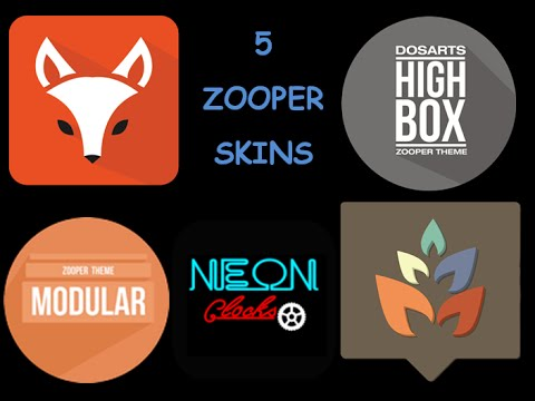 5 Zooper Skins - Fox, Higbox, Modular, Neon & Aura for Zooper