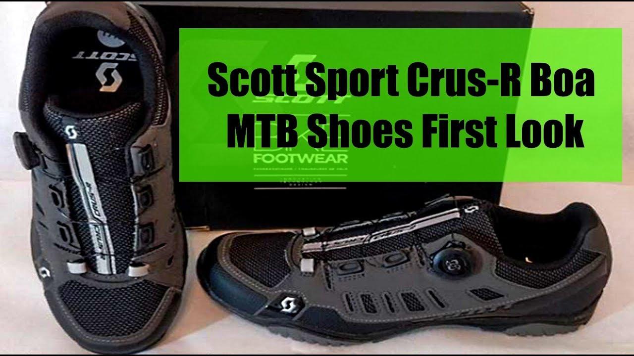 24a1084b69252a Scott Sport Crus R Boa MTB Shoes First Look - YouTube