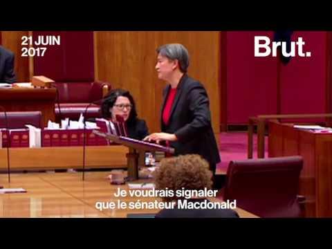 La sénatrice Penny Wong en a eu marre d'être interrompue au Sénat australien