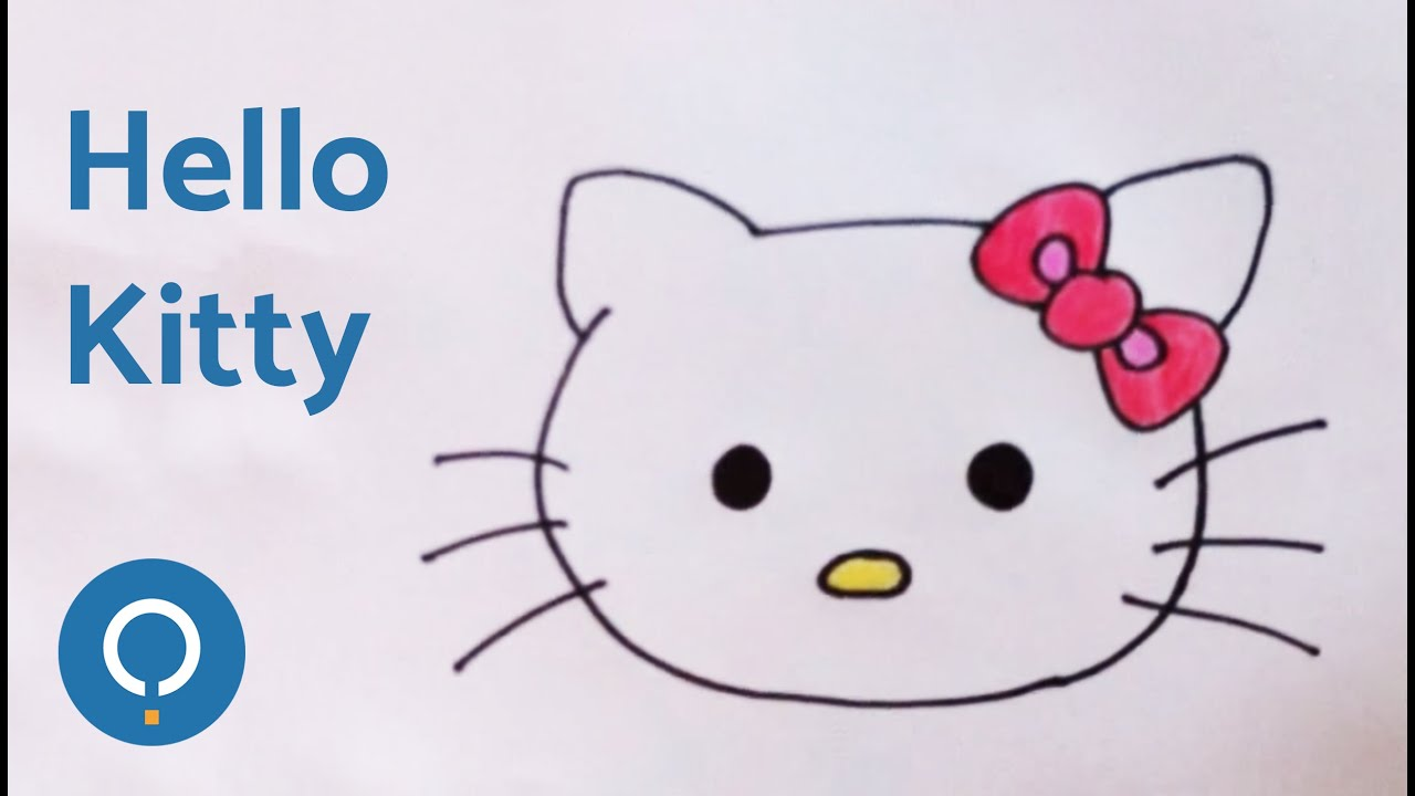 Cmo dibujar la cara de la Hello Kitty  YouTube