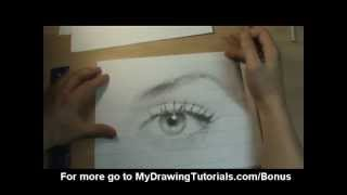 [realistic Drawing Tutorial 4/8] How To Draw A Portrait From A Photograph