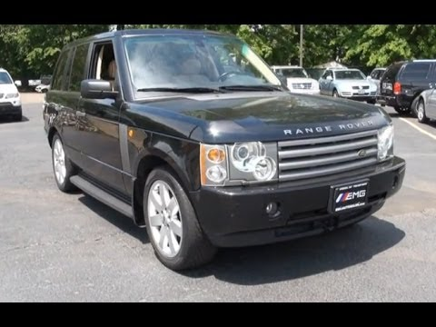 2005 land rover range rover hse suv review youtube. Black Bedroom Furniture Sets. Home Design Ideas