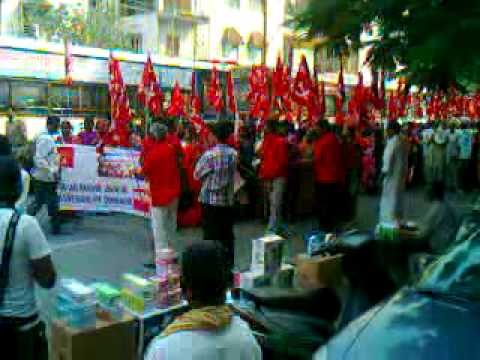 March of MCPI(U) workers in Hyderabad