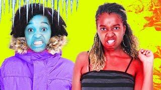 HOT VS COLD CHALLENGE - Shiloh and Shasha Onyx Kids