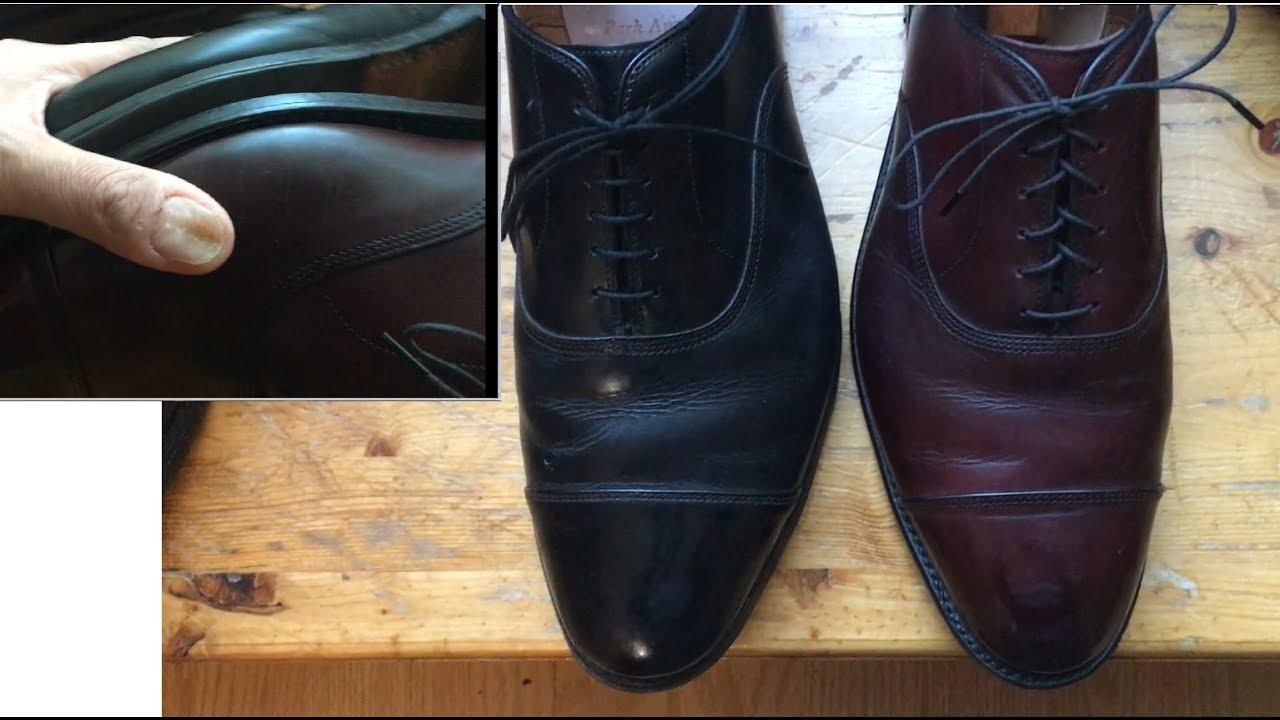 Allen Edmonds 3E vs D width dress shoe