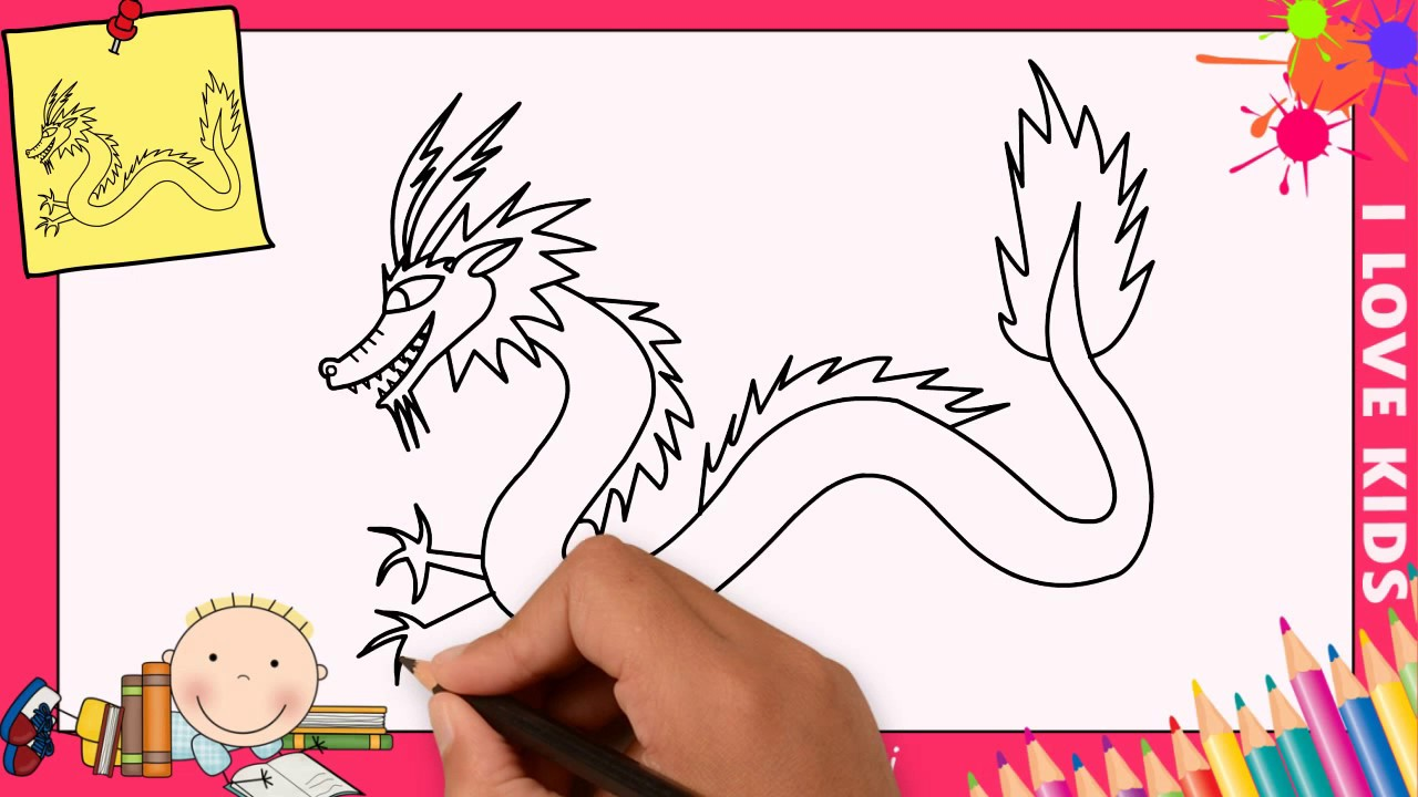 Estremamente Disegni di draghi FACILI (aggiornare) | Come disegnare un drago  TP19