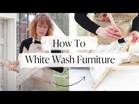 How To Whitewash Furniture | Step By Step DIY Tutorial