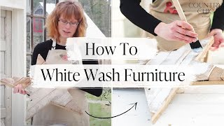 How To Whitewash Furniture   Step By Step Diy Tutorial