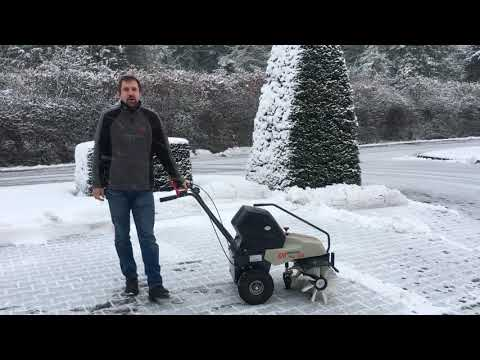MMV - Cramer Domus Akku Kehrmaschine - Leise Schnee fegen