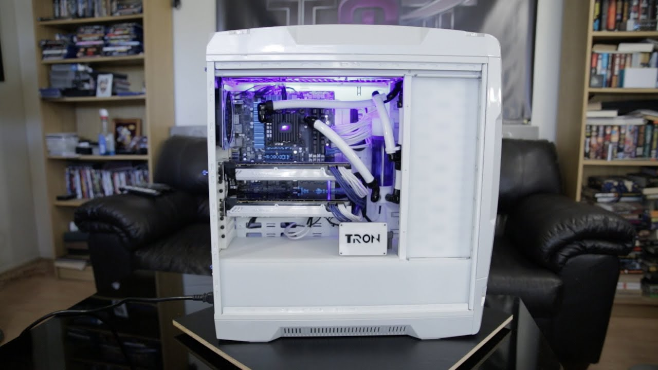 Tron Twin Crossfire Water Cooled Custom Build PC  YouTube