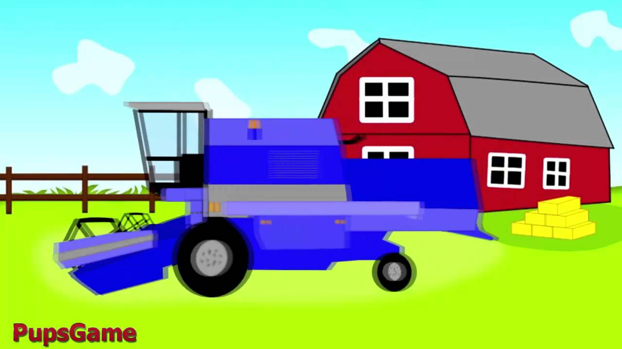 Tractor Cartoon Picker : Cartoon about harvester cartoons for kids baby tv youtube