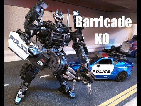 TRANSFORMERS 5 KO VERSION BARRICADE THE LAST KNIGHT ACTION FIGURE POLICE CAR TOY