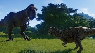Metriacanthosaurus VS T-Rex Jurassic World Evolution Steam: https:/...