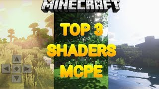 TOP 3 SHADERS MAIS REALISTAS PARA O MCPE ( Minecraft Pocket Edition )