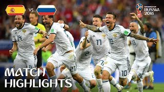 spain vs Russia 4-5 (1-1) World Cup 2018 1/8 finals (01/07/2018) All Goals Lego Football