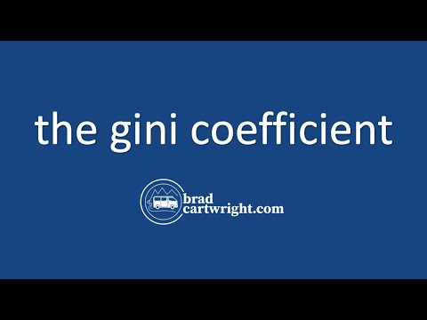 Equity in the Distribution of Income Series:  The Gini Coefficient