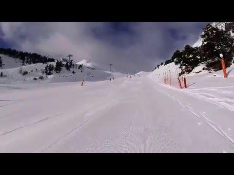 Skiing in Arinsal, Andorra 2016