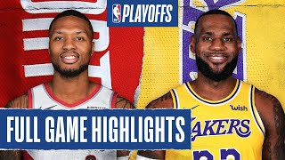 TRAIL BLAZERS at LAKERS | FULL GAME HIGHLIGHTS | August 18, 2020
