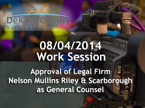 08/04/2014 - Approve Legal Firm - DeKalb Schools Board