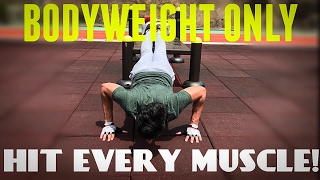 Insane Bodyweight Chest Workout Routine | HIT EVERY MUSCLE!