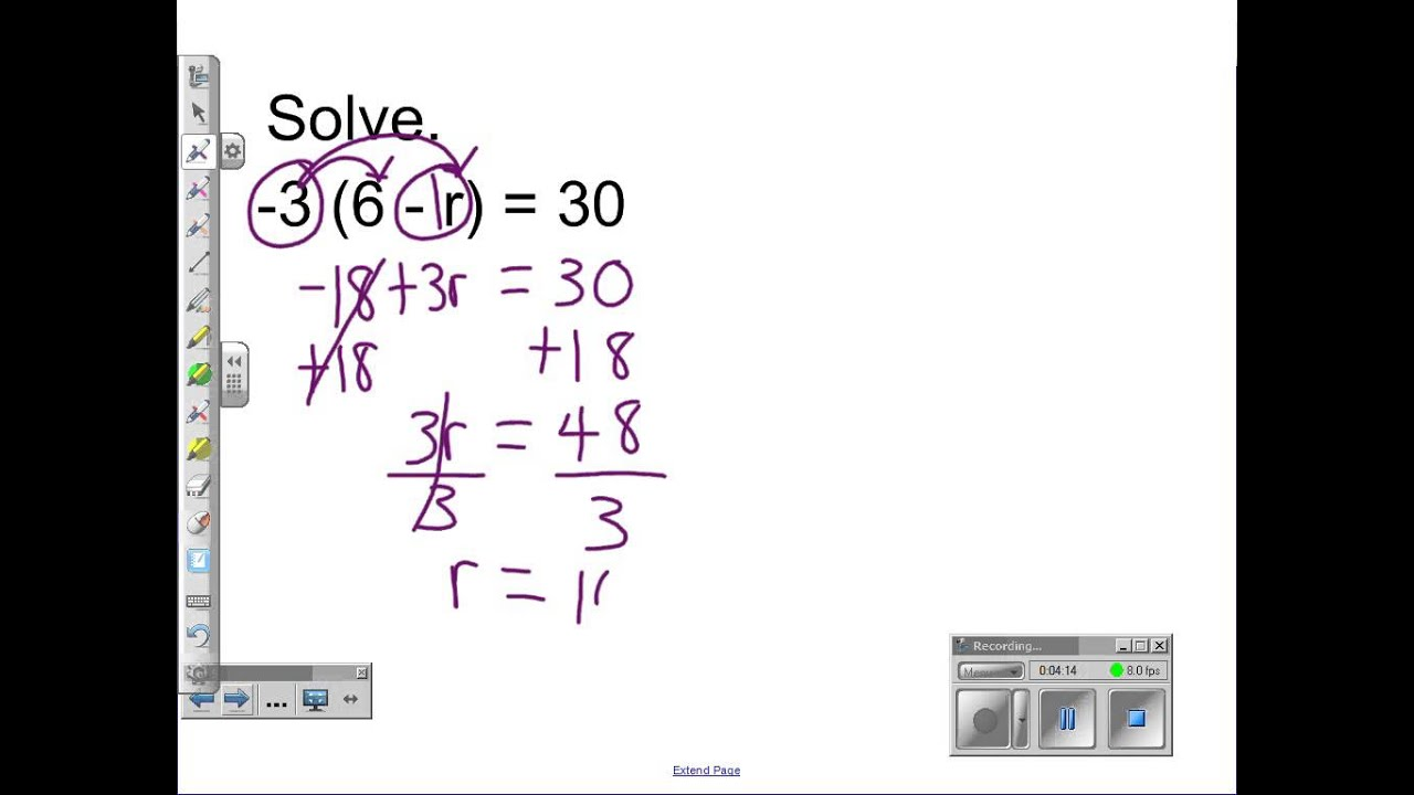 Distributive Property Combining Like Terms Solving Two Step – Solving Equations with Distributive Property Worksheet