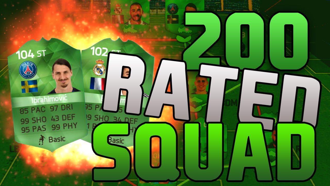 FIRST EVER 200 RATED FIFA SQUAD!! HIGHEST RATED + BEST ...