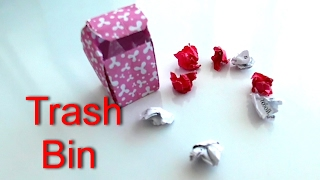 Easy Origami Trash Bin (One sheet of paper) (Designed by Henry Phạm)