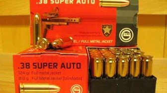 38 Super Auto 124 Grain FMJ Ammo Made in Hungary by Geco at SGAmmo.com