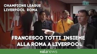 Champions, il sopralluogo della Roma sul prato di Anfield