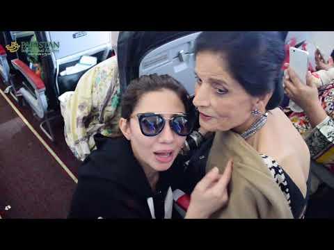 Maria Khan & Haroon Shahid onboard PIA!