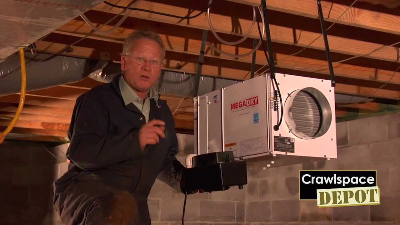 Mega Dry Dehumidifier from Crawlspace Depot - YouTube