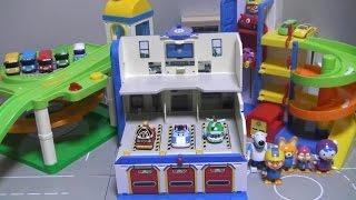 Robocar Poli Tayo The Little Bus Pororo Car Parking Toy play 로보카폴리 타요 뽀로로 주차장 장난감