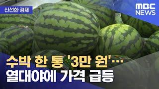 [신선한 경제] 수박 한 통 '3만 원'…열대야에 가격…