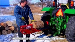 3PT16T21 - 16 Ton Dual Action 3 PT Tractor Mount Log Splitter